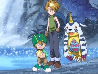 Seriously, he said that RIGHT as Gabumon walked up. What a jerk!